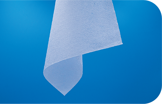 A folded view of Saturix nonwoven polyester microfiber cleanroom wipes