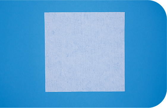 A flat 2-D view of Saturix nonwoven polyester microfiber cleanroom wipes.