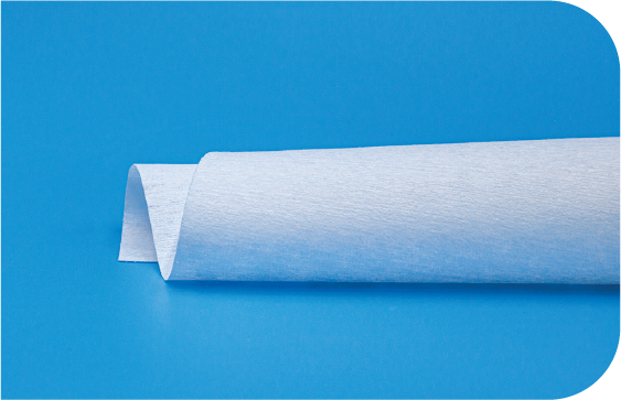 A second shot of a side view of nonwoven microfiber polyester cleanroom wipes with edge detail
