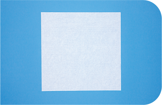 A flat 2-D view of Saturix nonwoven polyester cellulose cleanroom wipes.