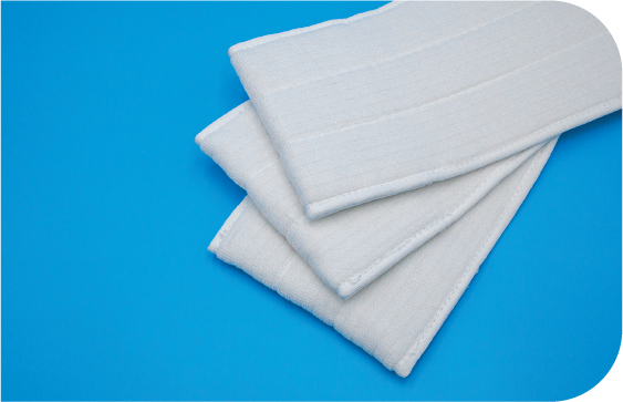 Heavy weight pocket mops with up to 47 percent higher coverage than the leading competitor's mops.