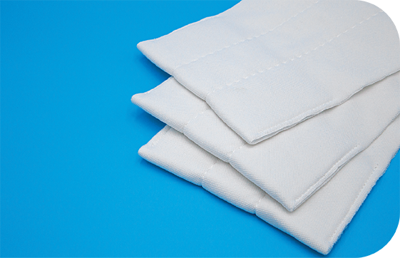 Optimized cleaning performance and efficiency with these lightweight disposable cleanroom mops.