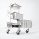Our premium all stainless steel autoclavable cleaning cart