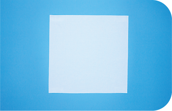 A flat 2-D view of Saturix knit polyester cleanroom wipes.
